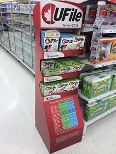 cardboard display,POP display for UFile