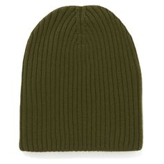 M Missoni Ribbed Beanie Hat - Muschio (85 CAD) ❤ liked on Polyvore featuring accessories, hats, beanies, green, green beanie, ribbed hat, woolen hat, m missoni and chunky beanie