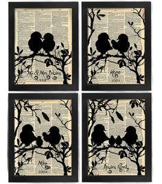 Ihr Stammbaum Liebe Vogelart aus der Familie antike von HelloUwall