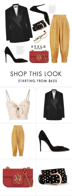 """Tuxedo Junction..."" by badassbabyboomer ❤ liked on Polyvore featuring Puma, Isabel Marant, Gucci, Aquazzura and Alexander McQueen"