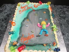 Rock Climbing Birthday Cake Lancaster PA | Oregon Dairy Bake Shoppe