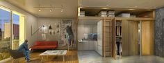 nARCHITECTs' adAPT NYC Micro Apartments Feature Convertible Furniture and Multi-Use Rooms