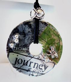 JOURNEY postage washer necklace by tsmdesigns123 on Etsy, $27.00