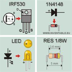 Montaje de algunos componentes usados en el regulador