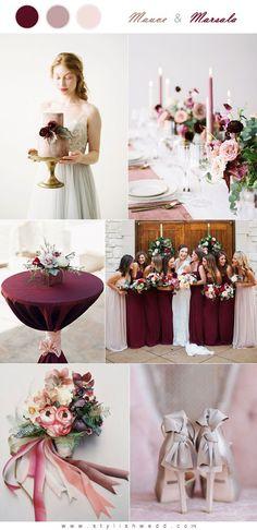 Marsala and Mauve Wedding Color Inspiration