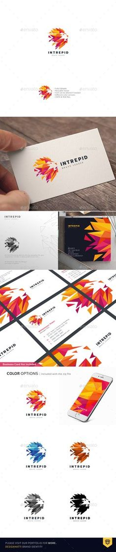 Intrepid Lion Logo — Vector EPS #abstract lion vector #strength • Download ➝ https://graphicriver.net/item/intrepid-lion-logo/19261154?ref=pxcr