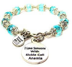 I Love Someone With Sickle Cell Anemia Capped Crystal in ...…