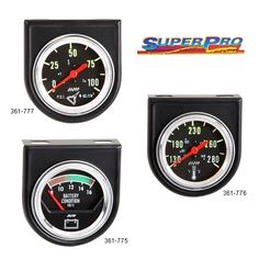 SuperPro Engine Gauges - These affordable gauges work perfectly under the most grueling conditions, and their 10-year warranty proves they will last!