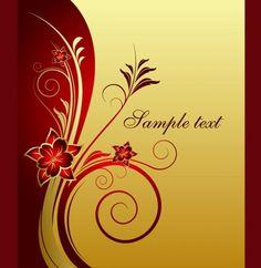 6 Elegant Golden Floral Vector Background - http://www.welovesolo.com/6-elegant-golden-floral-vector-background/