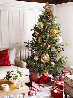 weihnachstdeko wohnung ideen weihnachtsbaum ecke stellen
