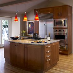 Contemporary Kitchen Photos Kraftmaid Kitchen And Carera Counters And Wood Cabinets Design, Pictures, Remodel, Decor and Ideas