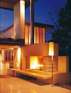 External fireplace
