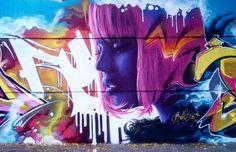 How about some colour from @bublegumsr ? http://globalstreetart.com/bublegum #globalstreetart #bublegum #mural #wallart #streetarteverywhere #colour #barcelona #spain