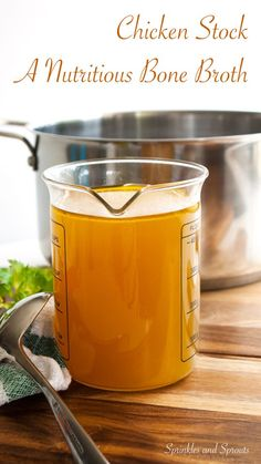 Chicken Stock - A homemade recipe for a rich, delicious and nutritious bone broth. Perfect for making chicken soup or adding to risotto.