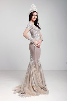 Kimberly Leggett. Dress by Jovian Mandagie