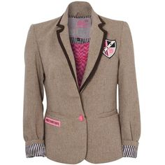 Pauls Boutique Tweed Blazer ($120) ❤ liked on Polyvore