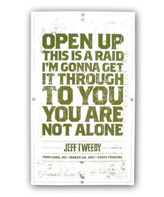 Jeff Tweedy Solo You Are Not Alone Poster And Mavis Staples