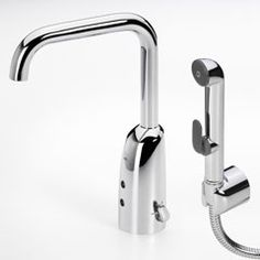 Oras Electra, touchless washbasin (bidet) faucet with Bidetta multi-purpose hand shower (6337F)