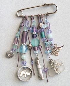 Ro Bruhn Art: Found objects pins and charms