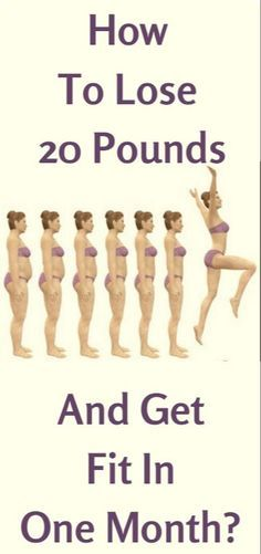 How To Lose 20 Pounds And Get Fit In A Month