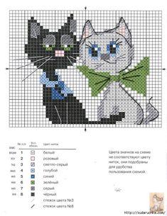 Кошки. Вышивка крестом. / Вышивка / Схемы вышивки крестом
