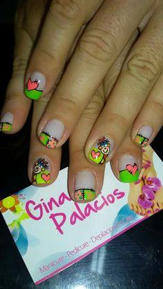 Viviana Fingernail Designs, Manicure Y Pedicure, Crazy Nails, French Tip Nails, Nail Decals, Creative Nails, Valentine Heart, Spring Nails, Toe Nails