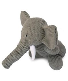Knitted Elephant Toy by Sarah Keen free pattern on Woman's Day at http://www.womansday.com/home/craft-ideas/craft-project-knitted-toy-elephant-112798