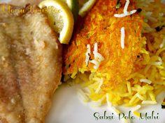 Sabzi Polo Mahi - Riso Persiano alle Erbe con pesce fritto per Starbooks
