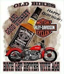 Happy Birthday Harley Davidson and Whiskey Happy Birthday Pictures, Happy Birthday Quotes, Happy Birthday Greetings, Birthday Messages, Happy Birthday Harley Davidson, Happy Birthday Biker, Pin Ups Vintage, Bohemian Birthday Party, Whiskey