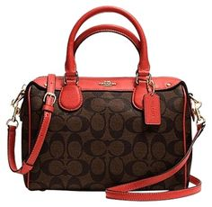 3607f59bdee0 Coach Mini Bennett Brown Carmine Satchel on Sale