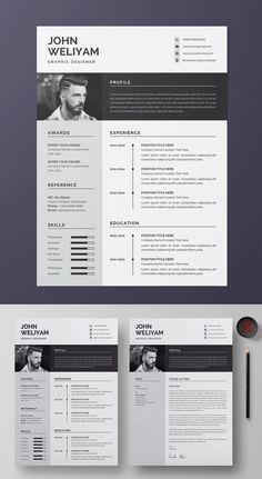 Free Cv Template Word, Modern Resume Template, Resume Design Template, Resume Templates, Architect Resume, Cv Inspiration, Business Resume, Infographic Resume, Graphic Design Resume