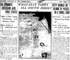 The Jersey Devil News Clipping W/ Photo of Hoofprints
