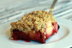 Recette de Crumble pomme framboise aux flocons et au son d'avoine au Thermomix