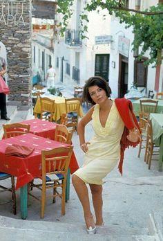 1960 ~ Actress Tzeni Karezi photographed in Plaka by Giancarlo Botti