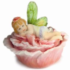 Misty Hibiscus Flitterbyes Butterfly Fairy Trinket Box By Kathleen Francour