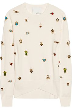 learn how to DIY this bejeweled 3.1 Phillip Lim sweater courtesy of @P.S.- I made this...