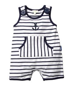 Anchors Away! The Cutest Nautical Finds For Your Little Sailor: Rikshaw Design's anchor jon jon ($48) features a hand-block printed pattern on breezy cotton voile.  : French brand Le Top's sleeveless romper ($33) will keep your toddler cool and comfy for his seaside adventures.