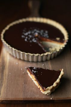 Gluten-Free Salted Peanut Butter Chocolate Tart | The Baking Bird