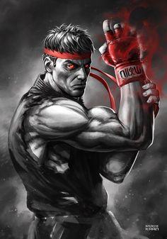 EVIL RYU - Street FighteR by sadeceKAAN.deviantart.com on @DeviantArt