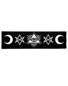95b8343dd50 Occult Symbols Evil Eye   Moons Large Patch