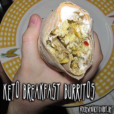 Keto Breakfast Burritos @screwedonstraight