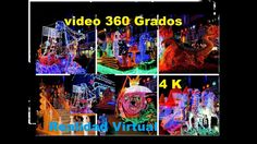 Desfile de carrozas y fuegos artificiales, Video360º, Marina d'Or Ciudad...