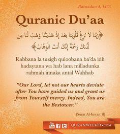 Dua for steadfast iman