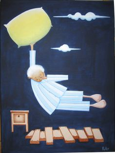 Sueño (Un viaje de dia).  Dream (One way ticket) Acrylic on canvas RUFER