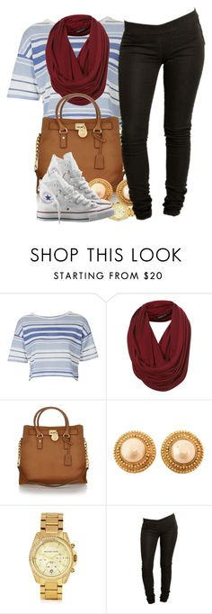 """""""Mad brick outside but w.e. :/"""" by livelifefreelyy ❤ liked on Polyvore featuring Topshop, Michael Kors, Chanel, Tiger of Sweden, Converse, women's clothing, women, female, woman and misses"""