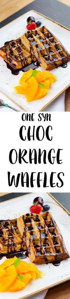 Low Syn Chocolate & Orange Waffles | Slimming World - http://pinchofnom.com/recipes/low-syn-chocolate-orange-waffles-slimming-world/