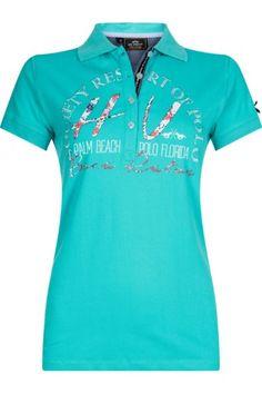 HV-Polo Poloshirt Romy polo shirt met een volledig logo met strass steentje