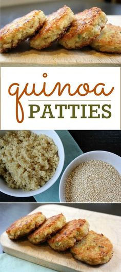 to make Quinoa Patties Quinoa Patties: One of the best vegetarian meals. Can be modified for most diets and tastes!Quinoa Patties: One of the best vegetarian meals. Can be modified for most diets and tastes! Best Vegetarian Recipes, Veggie Recipes, Cooking Recipes, Easy Recipes, Shrimp Recipes, Chicken Recipes, Dip Recipes, Good Vegetarian Recipes, Casserole Recipes