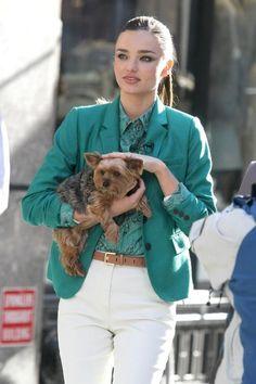 Miranda Kerr   Green and white!