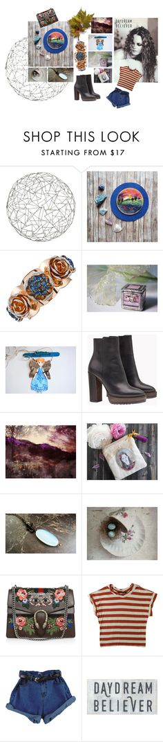 """""""Vanessa"""" by claudia-nanni-fine-art ❤ liked on Polyvore featuring Arteriors, WALL, Brunello Cucinelli, Gucci, Humör and Sugarboo Designs"""